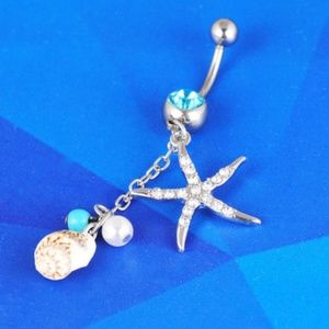 Jewelry - NWOT Seashell Surgical Steel Navel Belly Ring